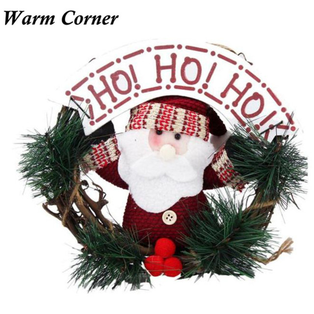 Attrayant 2017 Luxury Christmas Wedding Santa Party RED Poinsettia Pine Wreath Door  Wall Decoration Free Shipping Sept