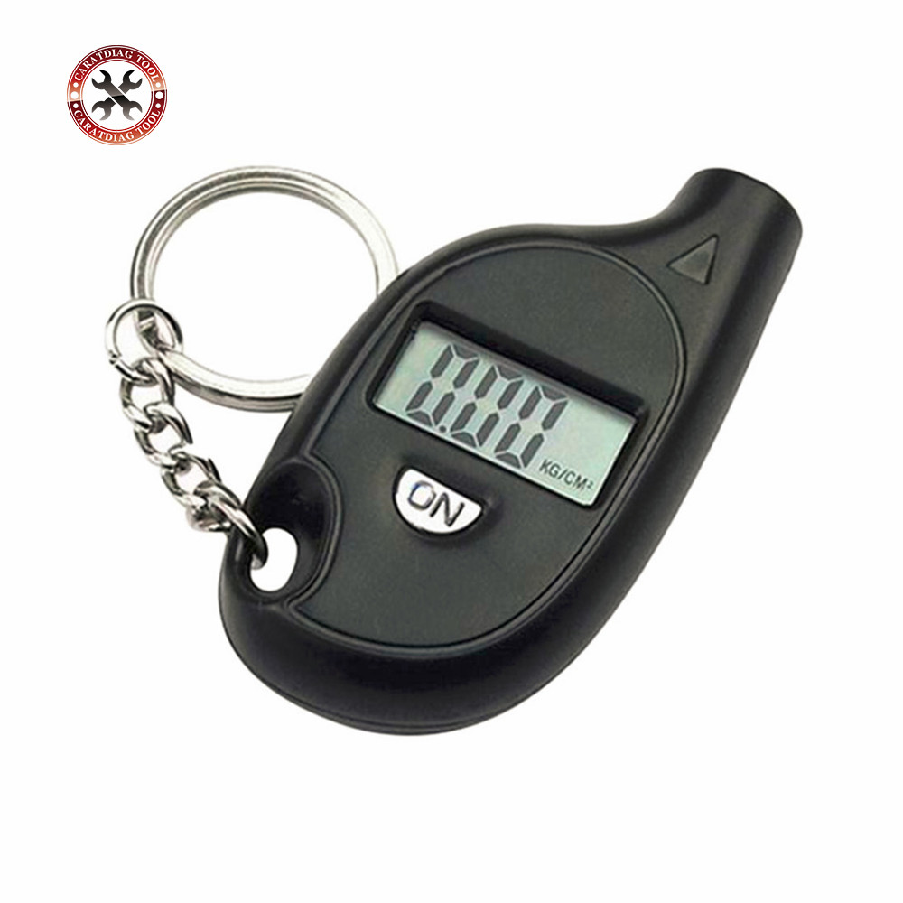 2018 New Arrival Mini LCD Digital Tire Tyre Keychain Air Pressure Gauge For Car Auto Motorcycle CNP Free Shipping(China)