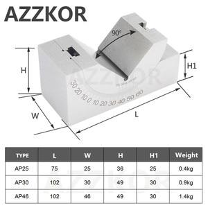 Image 2 - Fräsen Maschine Präzision Teile Einstellbare Pad 0/30/60 Winkel Gauge Debugge V Block Angler Top Werkzeug AP25 AP30 AP46 Für Mess