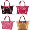 Doce cor de couro de marca famosa designer de mulheres do sexo feminino bolsa de ombro olá kitty bolsas de alta qualidade sacos carteras mujer 5