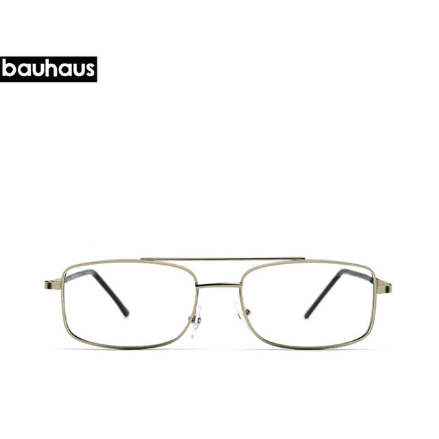 bauhaus Clear Glasses Retro Eyeglasses Metal Gold Myopia Eyewear Men ...