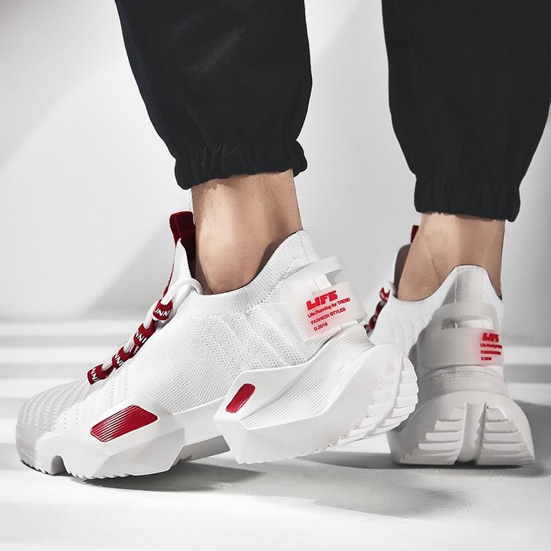 Hommes Chaussures 2019 Mode Adulte Mâle Volant Tissage Respirant décontracté Chunky Sneakers Hommes Formateurs Tenis Zapatos De Hombre