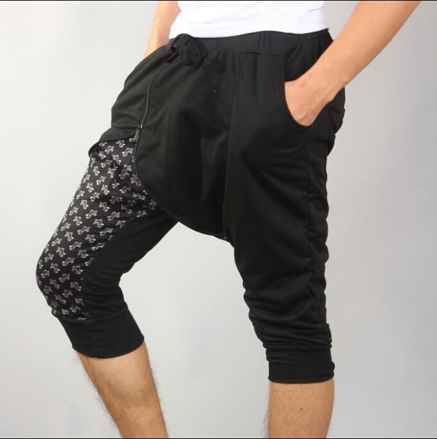 Homens verão coreano esquilo voador calça calças pé fino maré boate masculino harem calças calças de impressão