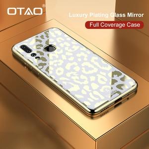 Image 1 - OTAO ציפוי זכוכית הדפס מנומר מקרה עבור Huawei P20 P30 פרו Mate 20 Lite רך TPU מקרי קצה כיסוי עבור Huawei נובה 4 3 3i Coque