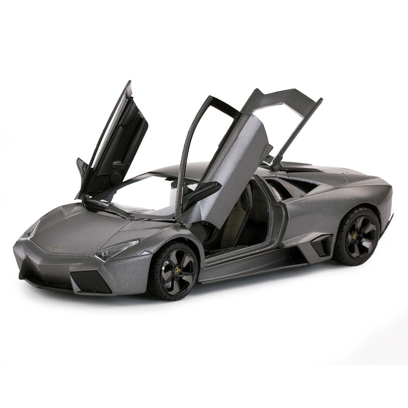 1:18 Luxury Sports Car Model Metal Gray Reventon Alloy Static Car Model Toys Limited Edition Locomotive Decoration Gift For Boys
