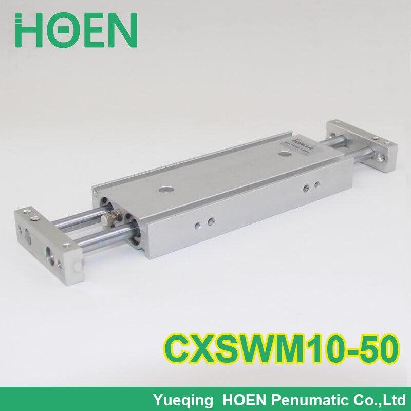 CXSM CXSJ CXSW série CXSWM10-50 10mm alésage 50mm course double tige cylindre roulement à glissière double tige pneumatique cylindre CXSW10-50