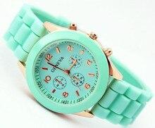 Krásné silikonové hodinky Geneva  v pastelových barvách