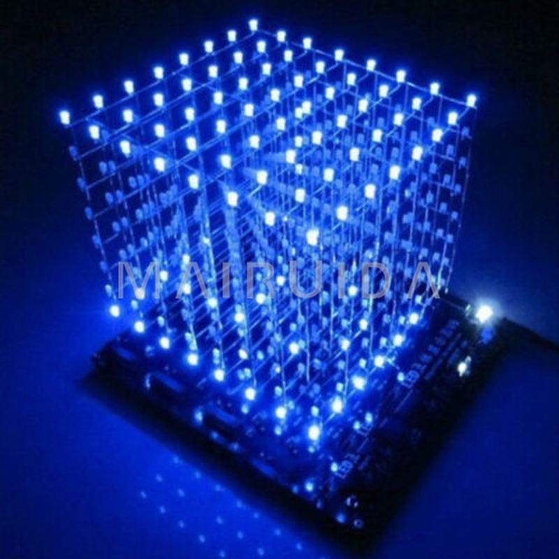 In stock! 3D8 light cube pcb board +60 s2+573+2803 3D LED cube 8*8*8 3mm Blue ray led сверло oem 3 12v pcb 0 8