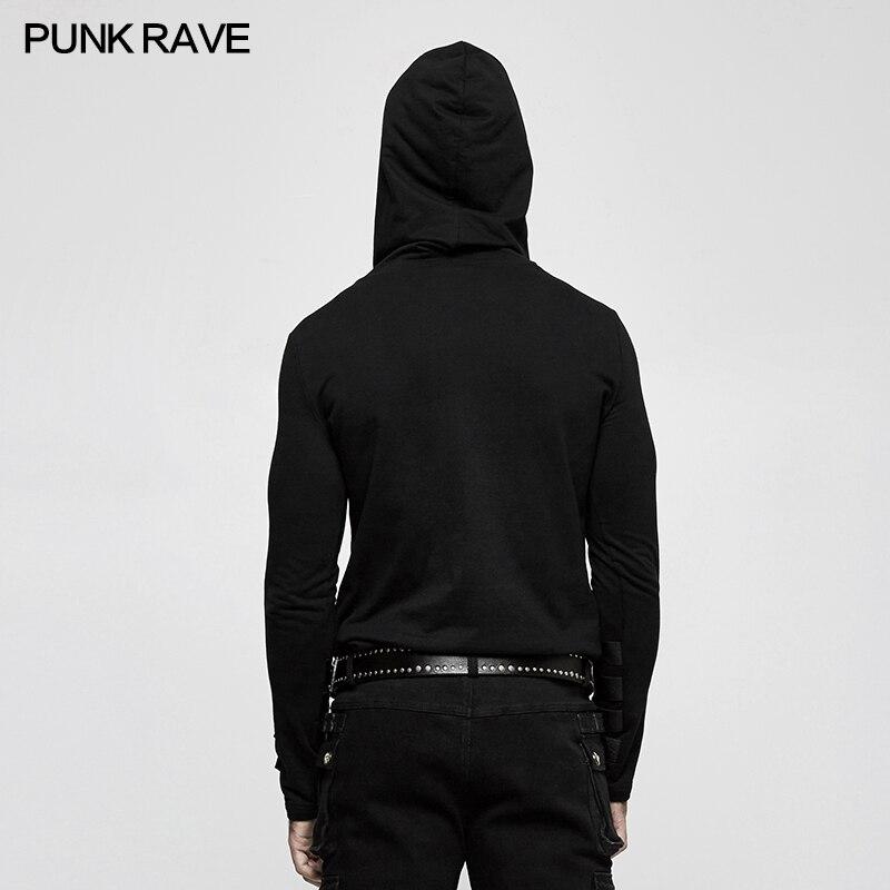 Neue Punk Rave Herren Schwarz Steampunk Mit Kapuze Top Fashion Marke qualität T shirt T483 Kostenloser Versand-in T-Shirts aus Herrenbekleidung bei  Gruppe 3