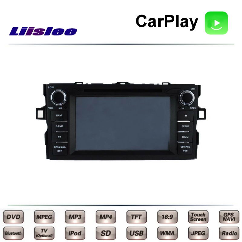 цена For TOTOTA Auris E150 Corolla iM 2006~2012 Car Multimedia TV DVD GPS Radio Carplay Original Style Navigation Navi