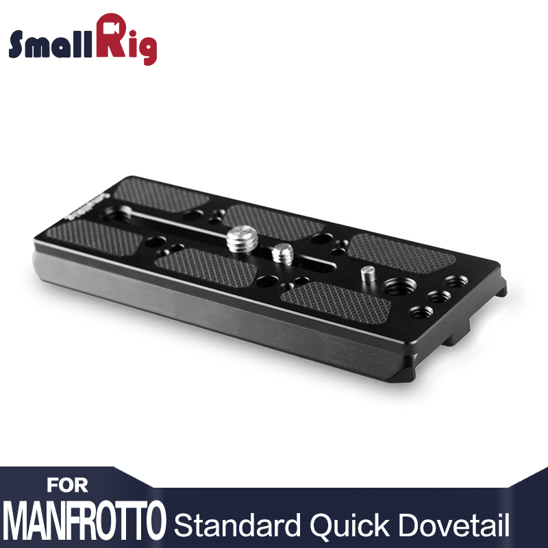 SmallRig Camera Quick Release Plate Manfrotto Standard Quick Dovetail Compatible with Manfrotto 526 (3274) 516 Fluid Head --1767 цена