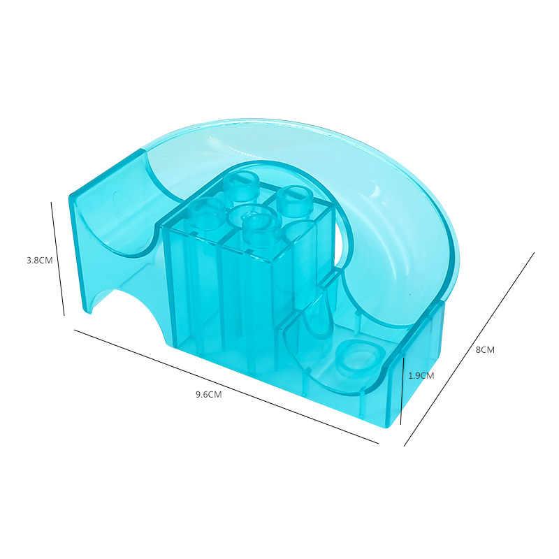 Grandes bloques de construcción Diy carrera de mármol accesorios de pista de bola de laberinto compatibles con juguetes duploed para regalo de niños