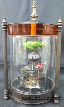 brass Dynamic Grasshopper coccinella septempunctata Mechanical Table Clock