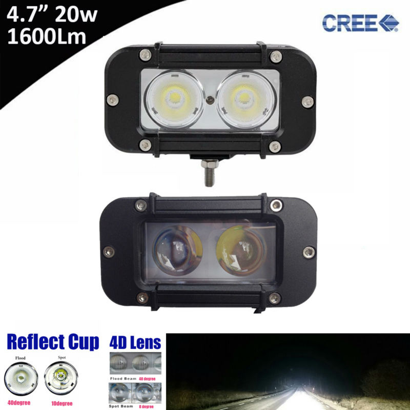 2x 20w 5inch Single Row Led Light Bar with Cree 10w High Light Output White Flood Spot Beam Patter for ATV UTV Motocycle 12v 24v atv recovery strap 1 inch x 15 ft single ply