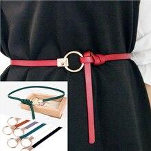 Тонкий PU женский кожаный пояс Чистый цвет поясные ремни женское платье Дикий небольшой ремень cinturon mujer cinto feminino cinturones