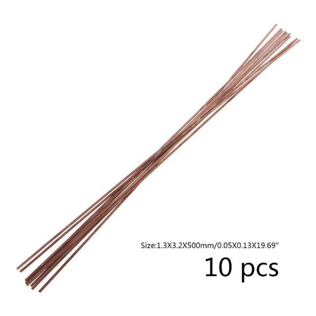 10 adet Düz Gümüş Elektrot Düşük Sıcaklık Fosfor Bakır Kaynak Çubukları HL201 Selffluxing Lehim Alaşımlı Lehimleme ve Lehimleme