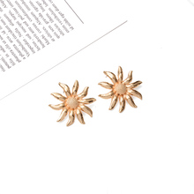 2019 New Arrive Flower Metal Drop Earrings Popular Style Hanging Dangle Jewelry Bijoux For Women Wholesale