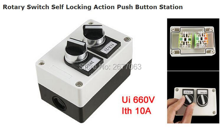 Rotary Switch Self Locking Action Push Button Station tn2ss rotary button switch gear selection type 2 22mm with self locking