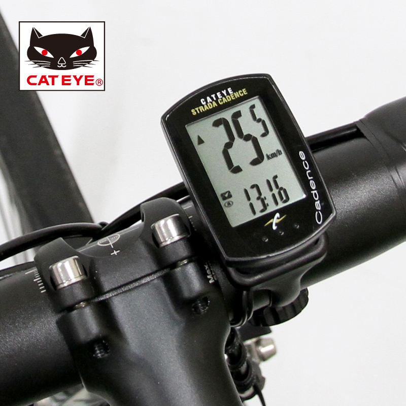 CATEYE Original STRADA CADENCE CC-RD200 Wired GPS Cycling Bike <font><b>Computer</b></font> Speedometer Sets With 9 Functions Black