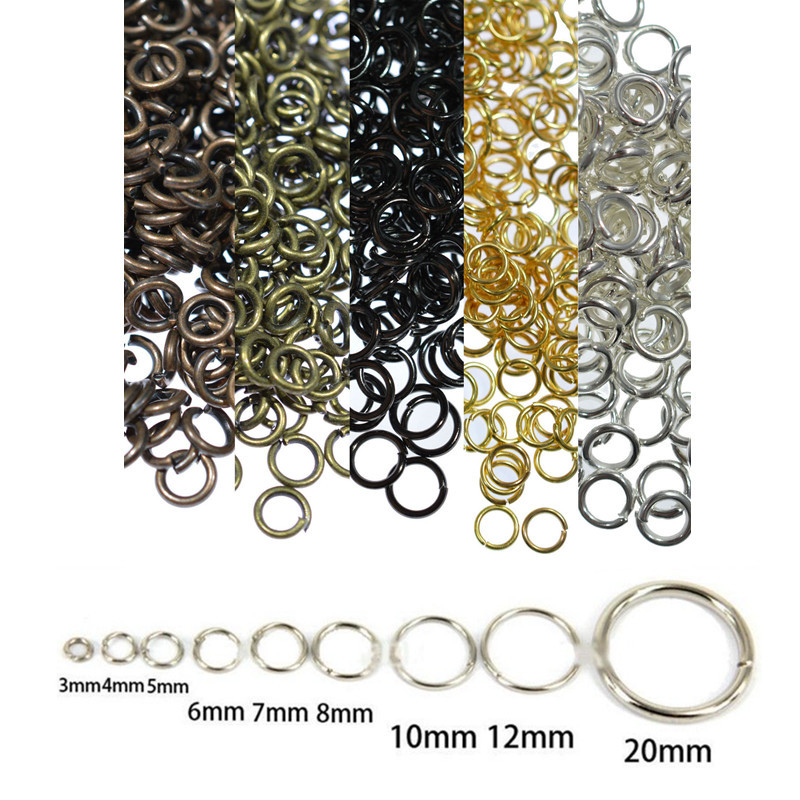 1000 pcs Silver Plated Split Open Double Loop Jump Rings 5mm Jewelry 37D Ring