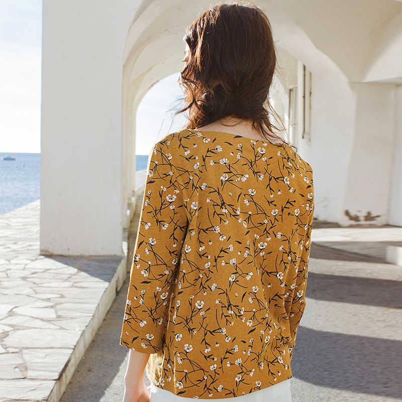 をインマン新製品女性のコットンワード襟ルーズ tシャツ女性印刷