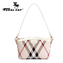 FERAL CAT Womens Bucket Famous Brand Luxury Fashion Handbags Shoulder High Quality Designer Leather Messenger Bags
