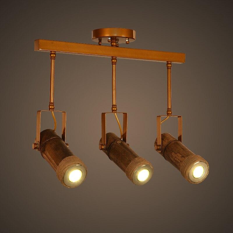 Loft American Rope font b LED b font Bamboo Ceiling Light Bamboo font b tube b