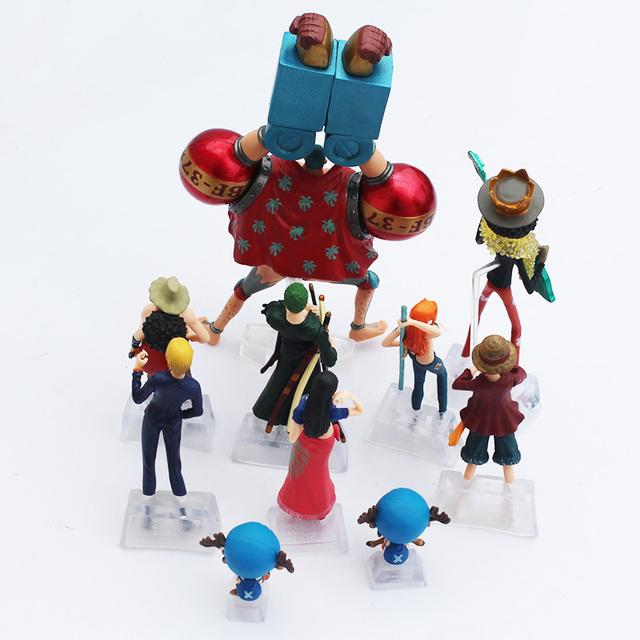 One Piece Piratas de Sombrero de Paja Figuras de Acción (10 Piezas)