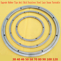 UPGRADE Anti Skid Soft Rubber Tips 90CM 36INCH OD Stainless Steel Lazy Susan Dining Table Turntable