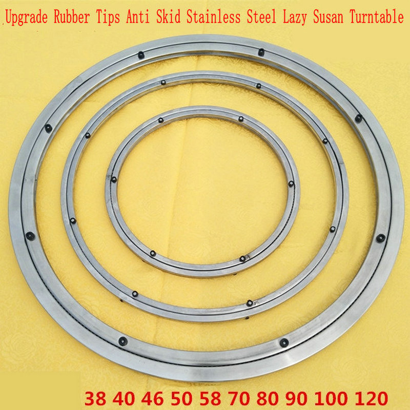 UPGRADE Anti Skid Soft Rubber Tips 90CM/36INCH OD Stainless Steel Lazy Susan Dining Table Turntable