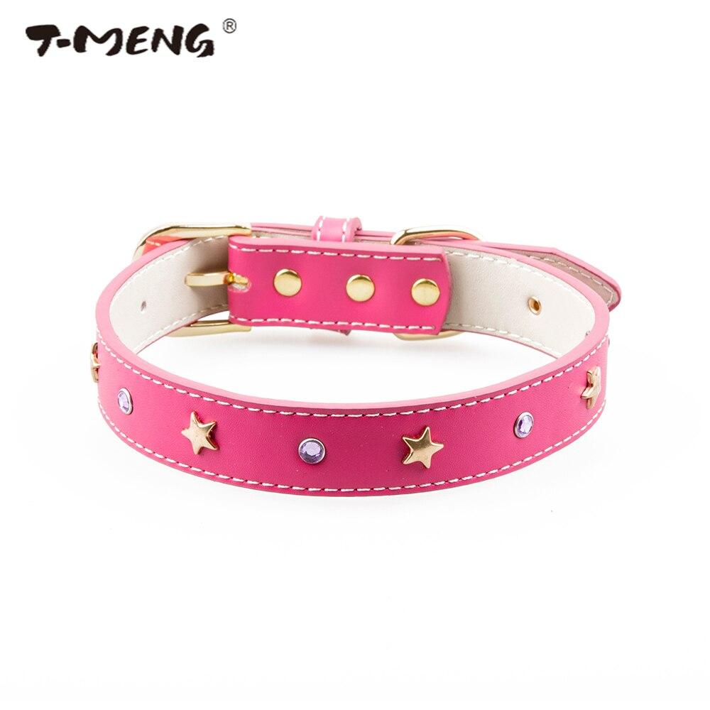 T-MENG Câine de companie pentru animale de companie Bling stras Diamond Sărmăci de pisică Genți de pisică din piele pentru animale de companie