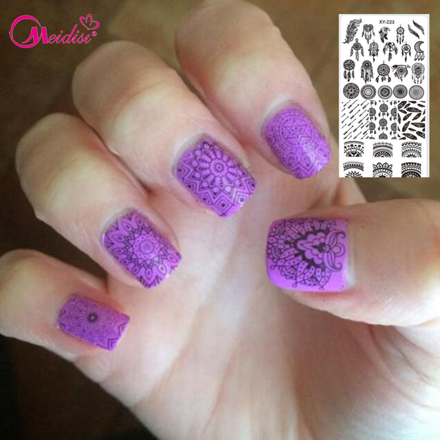 1pcs Nail Stamping New Designs Dream Catcher Beauty Pattern ...
