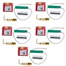 5 шт. самый маленький модуль SIM800L GPRS GSM карта MicroSIM основная плата четырехдиапазонный последовательный порт TTL RCmall FZ1332