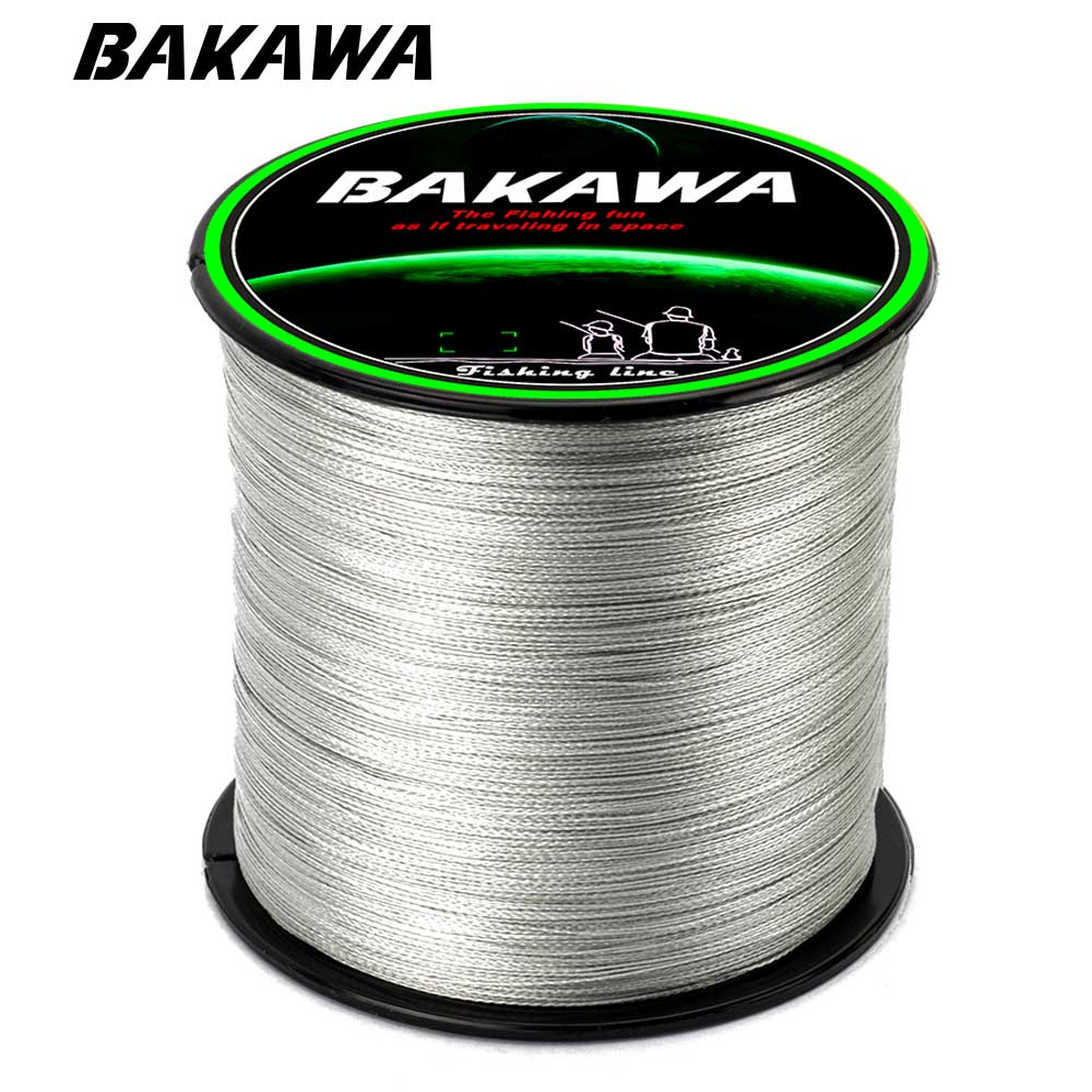 BAKAWA 300M 4 Strands Braided Fishing Line Multifilament 100% PE Japanese technology Super strong Fly Fishing Line