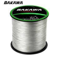 BAKAWA 300M 4 ipliklerini örgülü olta Multifilament % 100% PE japon teknoloji süper güçlü sinek olta olta