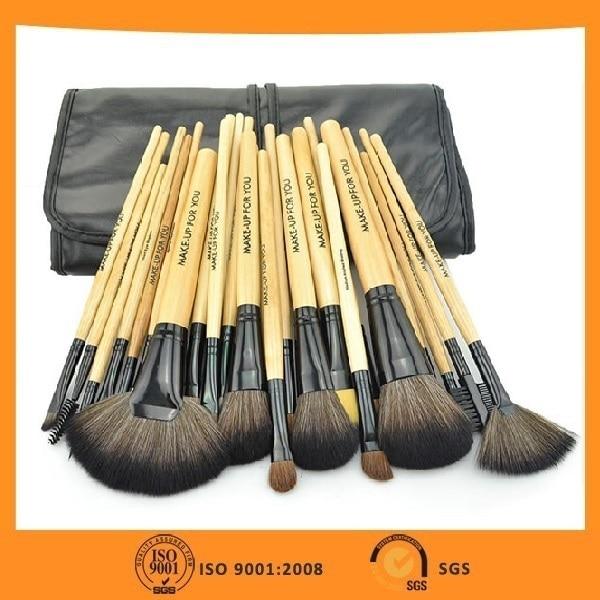 Best Gift! MAKE-UP FOR YOU Professional 24 Makeup Brush Set Brush Colour Makeup Kit 3Colors