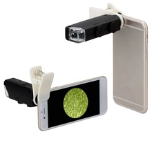 60X to 100X Zoom LED Microscope Magnifier Micro Mobile Lens Camera with Universal Clip For iPhone for Samsung for HTC for Huawei