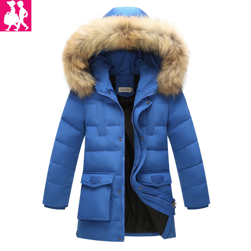 childrens clothing boys down jacket for boys parka outerwear coat jacket warm thick kids boys winter coat jackets Duck 100% boys thick down jacket 2018 new winter new children raccoon fur warm coat clothing boys hooded down outerwear 20 30degree