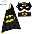 50 компл. 1 Мыс + 1 Маска + 1 шт. манжеты браслет паук супермен устанавливает мальчики дети супергерой накидки костюм супергерой косплей костюмы