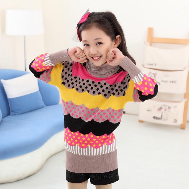 Nuevo Resorte de la llegada del Invierno Niños Niños Niñas suéteres grandes niñas cardigan de punto suéteres jersey