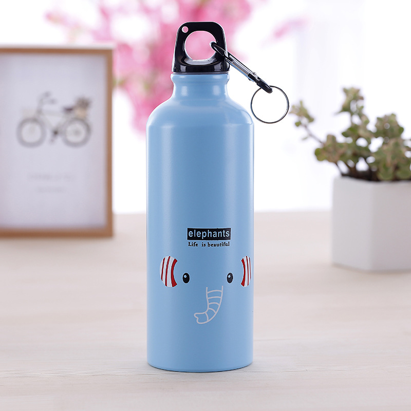 500ml Cute Cartoon Cup Mug Outdoor Sports Cycling Hiking Aluminum Water Bottle*,