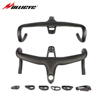 ULLICYC 5D Full Carbon Road Bicycle Handlebar Integrated Bar 28.6mm UD Weave With Bike Computer Mount Special Spacer light mount