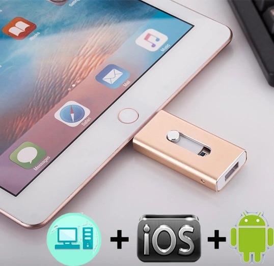 Lecteur de stylo 128 GB 64 GB 32 GB 16 GB clé USB 3.0 OTG iFlash lecteur HD clés USB pour iPhone 7 iPad iPod iOS téléphone Android