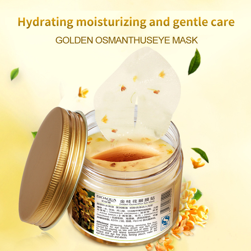 BIOAQUA Gold Osmanthus Eye Mask 80 Pcs/ Bottle Eye care Collagen gel Whey Protein Sleep Patche Remover dark Circles Eye Bag 2