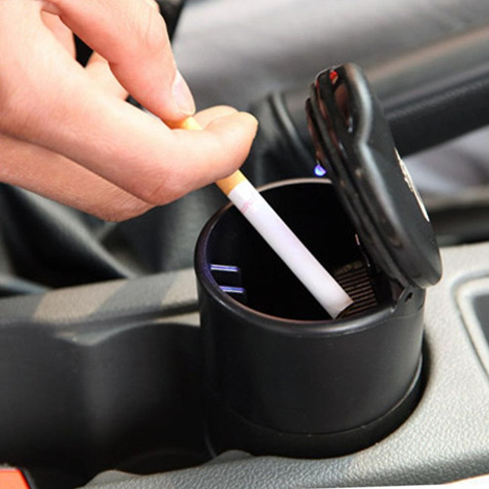 Car Ashtray High Flame Retardant Ashtray For 4s Shop Ashtray Manufacturer Portable Simple Car Ashtray With Light
