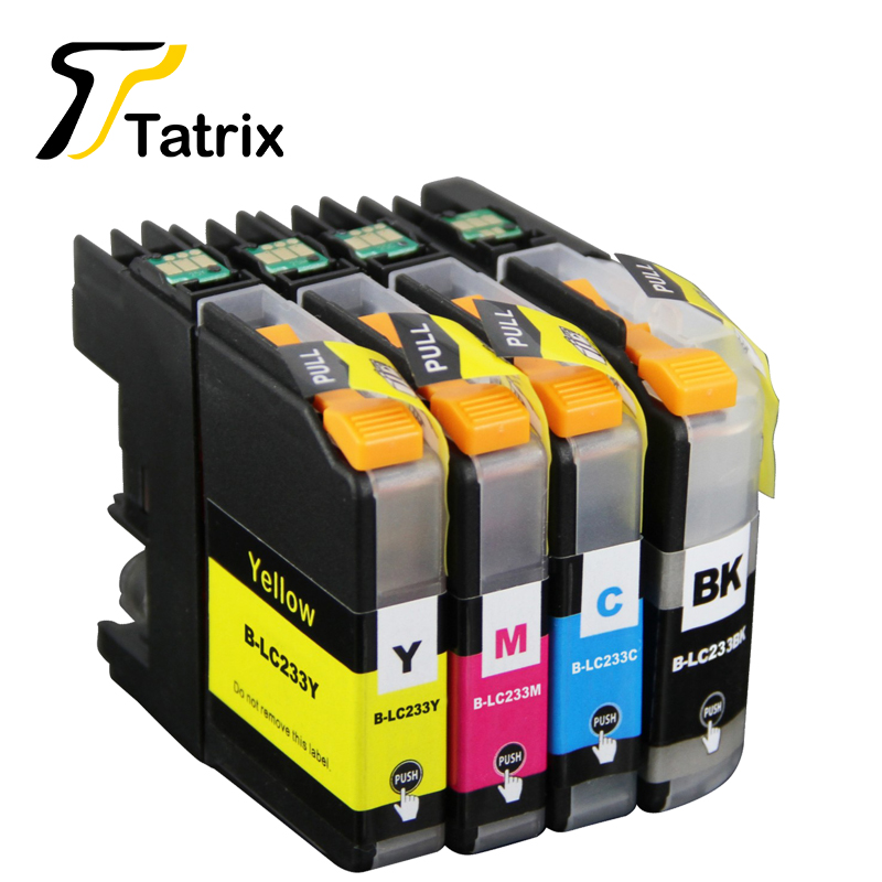 4PK LC233 LC231 Ink Cartridge Chip Reset Compatible For Brother DCP-J562DW MFC-J480DW J680DW J880DW Printer цена 2017