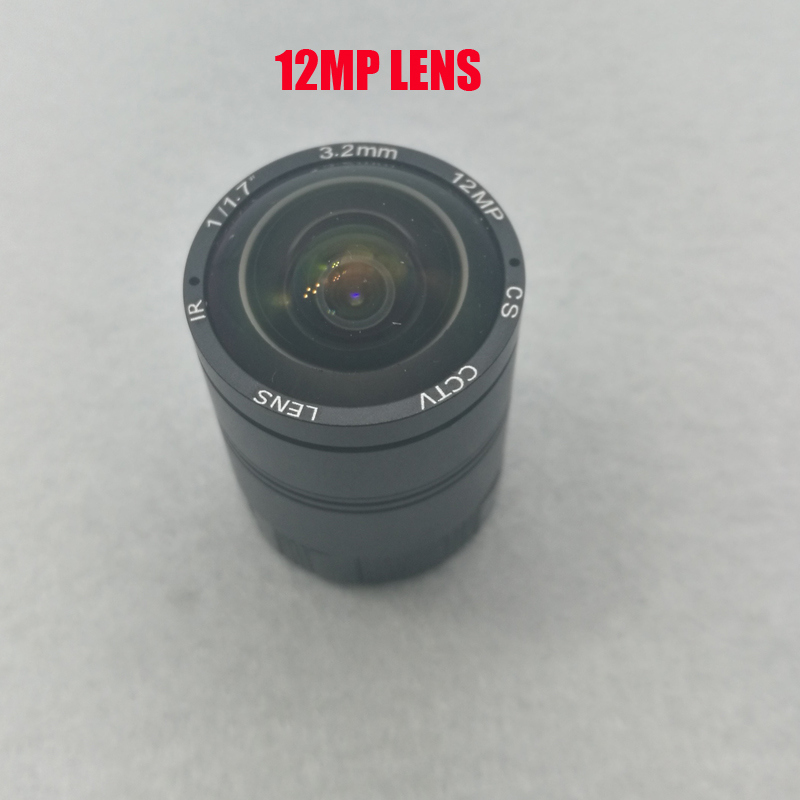 Free Shipping 12mp Megapixel Fixed 3.2mm 5mm 8mm CS Lens 1/1.7 inch For <font><b>IMX226</b></font> 4K IP CCTV Box Camera image