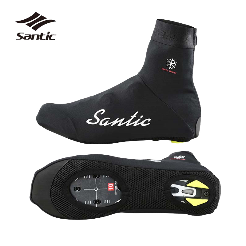 Santic Cycling Shoe Covers Unisex Windproof Bike Cycling Overshoes Winter Thermal Sports Accessories 1 Pair