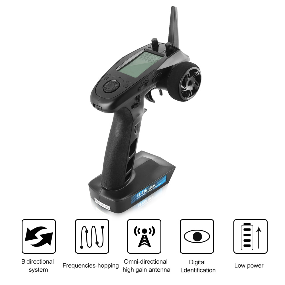 FLY SKY FS-GT5 2.4G 6CH Transmitter with FS-BS6 Receiver Receiver Built-in Gyro Fail-Safe for RC Car Boat flysky transmitter flysky fs bs6 receiver with gyro stabilization system with flysky fs it4s fs gt5 remote control
