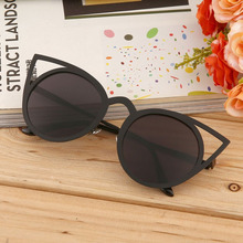 Fashionable Women Cat Eye Sunglasses Stylish Design Popular Street Metal Frame European and American Style